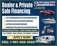 Private sale Financing and Leasing! All credit welcome!