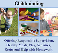Child minder available
