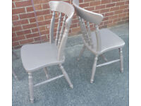 Hand Painted Wooden Chairs ... Colour Chestnut £10 each (or 4 for £30)