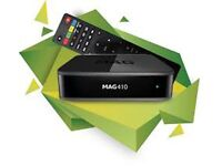 MAG 410 IPTV Set Box Android 6.0 4K and HEVC support Built-in Wi-Fi MAG 250 254 256
