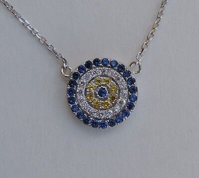 Platinum Plated Charm - New platinum plated 925 sterling silver AAA CZ evil eye pendant charm necklace