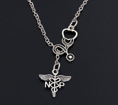 New Stethoscope Medical NP Nurse Practitioner Gift Graduation Lariat Necklace (Nurse Graduation Gifts)