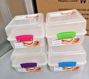 Sistema To Go 2 Tier Lunch Cube Kit 1.4L Snacks Food Container Storage Box New
