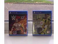 FIFA 17 & WWE2K17 PS4