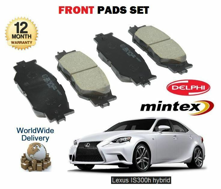FOR LEXUS IS250 IS300H HYBRID 2013--> NEW FRONT BRAKE DISC PADS SET