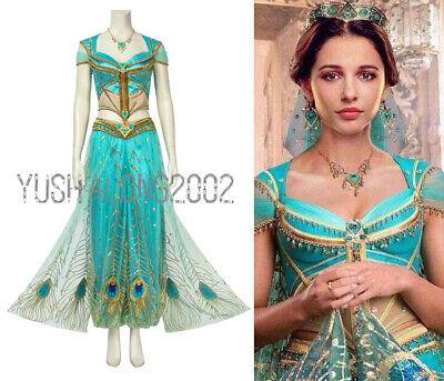Aladdin Jasmine Film Movie Disney Cosplay Kostüm Abendkleid - Jasmine Kleid Kostüme