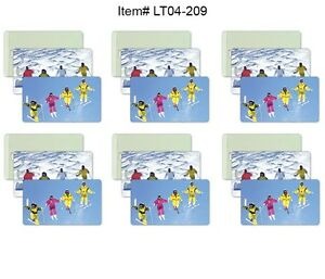 Ski-Winter-Luggage-Bag-Travel-Tag-All-Weather-Lot-of6-Flip-Lenticular-LT04-209