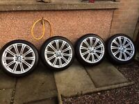 !!!18 inch 5 /120'bmw alloys rims and tyres!!!