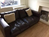 Large leather sofa in excellent condition