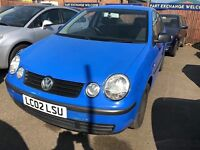 2002 Volkswagen Polo PX to clear , 5 doors good runner