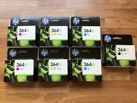 7x hp 364 xl ink cartridges