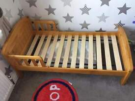 toddler pine bed