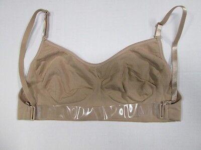 NEW Nude Dance Bra Clear Shoulder & Back Strap Size LC SA MA LA  Leotard Costume