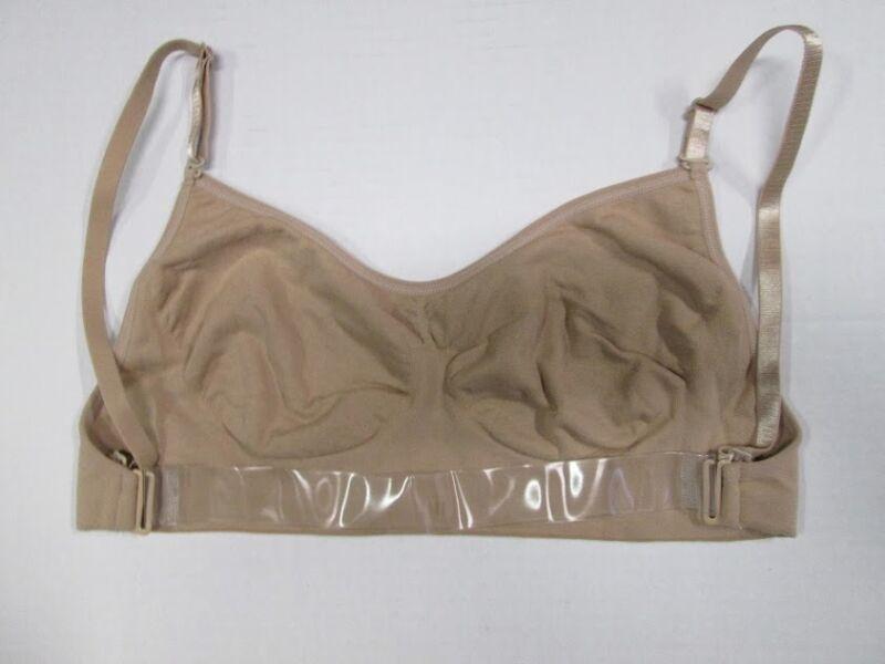 Nude Dance Bra Clear Shoulder & Back Strap Size LC SA MA LA New Leotard Costume