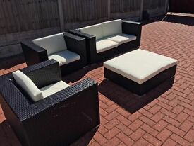 NOW SOLD. - Top Quality Rattan Garden Furniture Set
