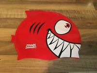 ZOGGS -Red Shark Junior Silicone Swimming Cap