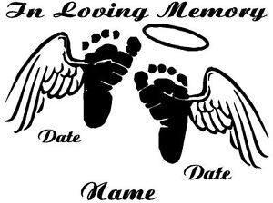 In loving memory of decal baby foot print