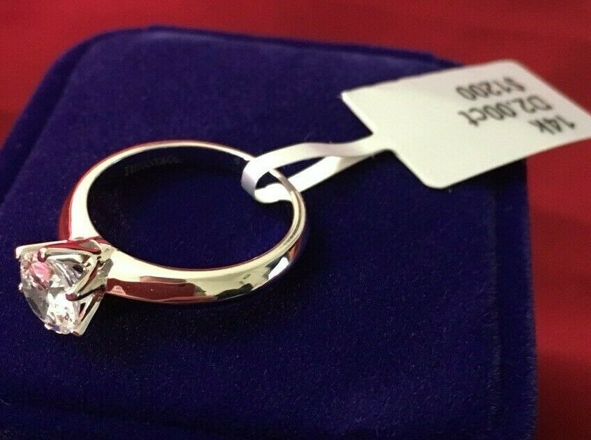 2 CT ROUND CUT DIAMOND SOLITAIRE ENGAGEMENT RING 14K WHITE G