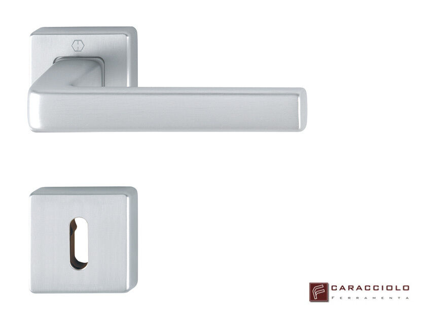 HOPPE - Maniglia per porte interne mod. DUBLIN Alluminio Satinato