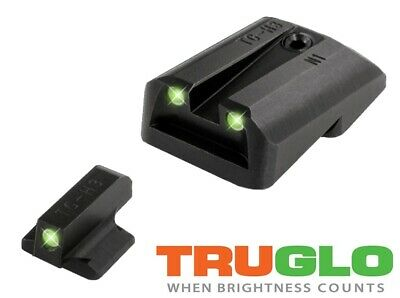 TRUGLO Tritium Night Sights for 1911 Novak LoMount .260 Front/.450 Rear TG231N1 Tritium Night Sight