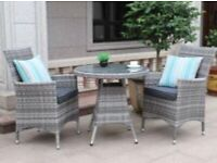 CHELSEA GARDEN COMPANY TWO PERSON TABLE & CHAIR SET