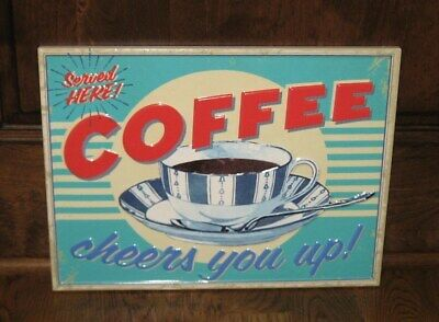 COFFEE Bar Wall SIGN*Primitive/French Country Farmhouse/Retro Kitchen Decor*NEW!