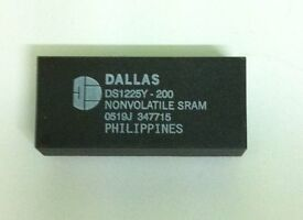 DALLAS DS1225Y-200 64K NONVOLATILE RAM 28PIN DIP (NEW,UNUSED)