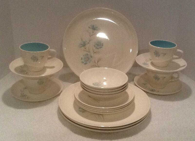 20 piece Taylor Smith Ever Yours Boutonniere Dinnerware Serving Set 4 Vintage