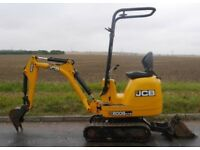 JCB Micro 8008 Digger (NO VAT) - 2012