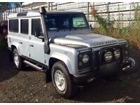 Land Rover Defender 110 2.4 XS SW LWB . Rarely available 8 seats. Exhaust Snorkel.