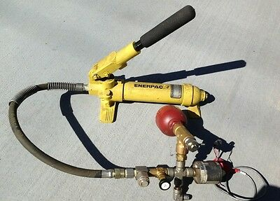 Enerpac P18 Hydraulic Hand Pump With Setra 207 Hydac Ss-4tf2-05 Ss-bvm8