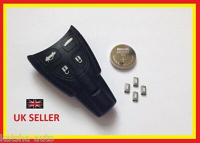 SAAB 93 95 9-3 9-5 TID AERO SMART 4 BUTTON REMOTE KEY FOB CASE REPAIR KIT