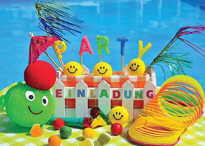 Einladungskarten Einladungen Kinder Geburtstag oder SCHWIMMBAD /POOL PARTY