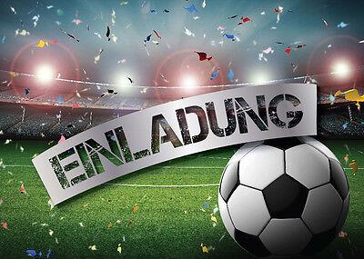 Einladungskarten Einladungen Kindergeburtstag FUßBALL FUSSBALL