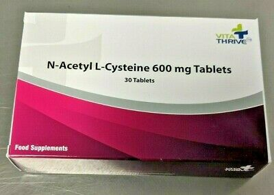 VitaThrive NAC N-Acetyl L-Cysteine 600mg Dietary supplement tablets Pack of 30