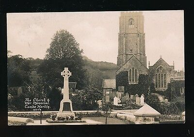 Devon COMBE MARTIN The Church & War Memorial 1924 RP PPC