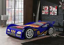 Kids Childrens Boys Race Racing Car Bed 3D Wheels Single Bed Blue Mandurah Mandurah Area Preview