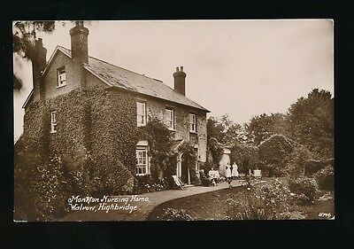 Somerset HIGHBRIDGE Monkton Nursing Home Walrow + nurses RP PPC by Bawden
