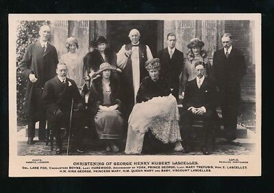 Royalty Christening George Henry Hubert Lascelles inc KG5 c1920s RP PPC