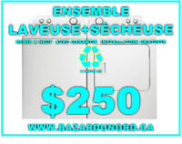 Laveuse/Secheuse a partir de $250/Washer/Dryer starting at $250