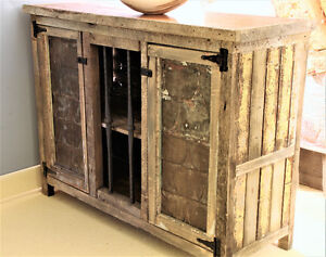 RUSTIC BUFFET, SIDEBOARD, HAND CRAFTED, FOR HOME OR COTTAGE