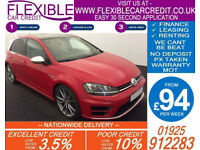 2016 VW GOLF R 2.0 TSI 4X4 DSG GOOD / BAD CREDIT CAR FINANCE AVAILABLE