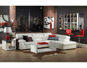 2 Pc. Sectional - White Sofa