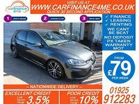 2015 VW GOLF 2.0 TDI GTD GOOD / BAD CREDIT CAR FINANCE FROM 79 P/WK