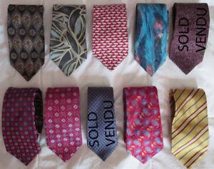 Designer Silk ties / Cravattes soie maison de mode conue