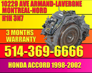 98-02 Honda Accord Transmission Automatique installer compris MG