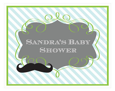 Personalized Little Man Theme Sign Baby Shower - Jungle Themed Baby Shower Decorations