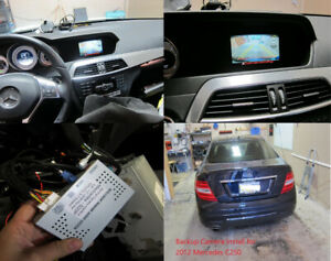 Reverse Camera to Factory Radio for Mercedes B250, C300, CLA250,