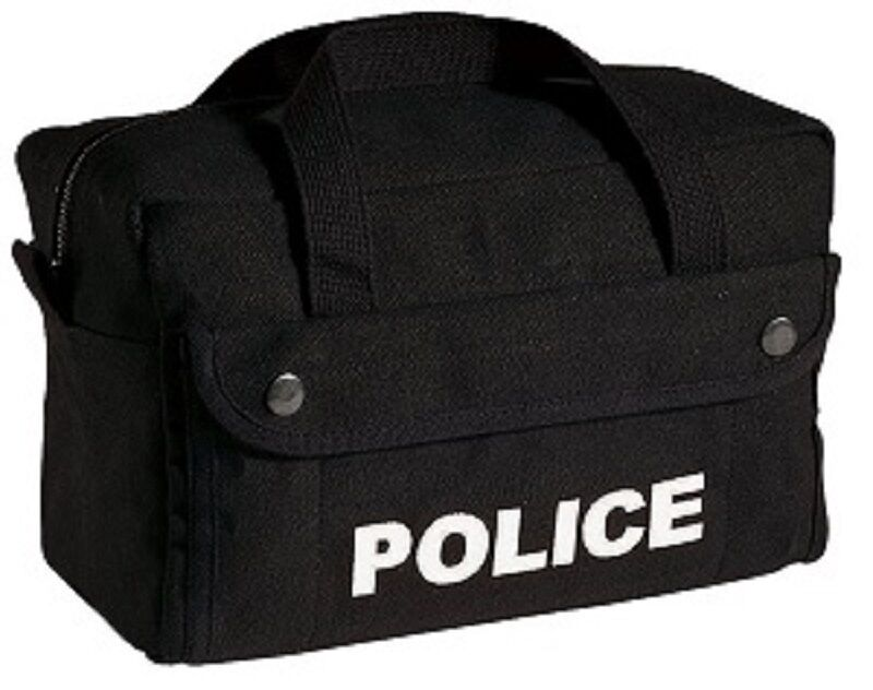"""Black Police H.W. Cotton Canvas Tactical Equipment / Tool Bag 11""""X7""""X 6"""" 8185"""