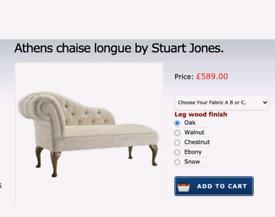 Stuart Jones Athens Designer Chaise Longue, Cream RRP £599